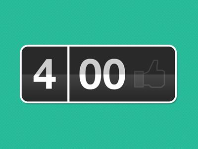 Flip clock to 400 likes on Facebook! design facebook between ui ux clock flip interface