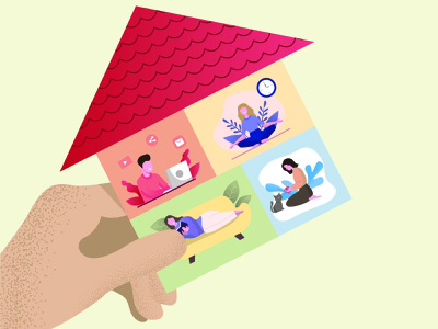 House work branding logo icon book typography animation illustration vector illustrator design