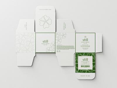 Still Skincare Unfolded Jar Box packaging illustration skincare minimal design