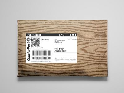 Woodgrain Envelope Package minimal illustration branding packaging design