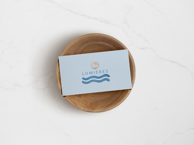 Lumieres Business card typography logo illustration branding minimal design