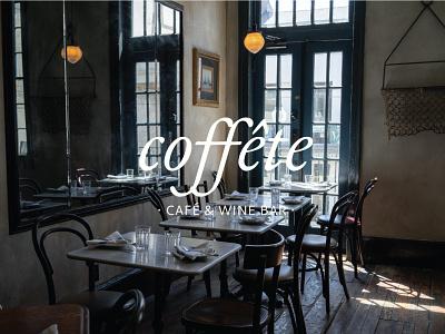 Coffete Cafe branding logo minimal design