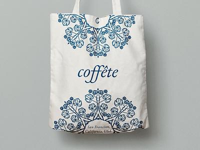Coffete Canvas Tote Bag coffee shop typography logo illustration branding minimal design