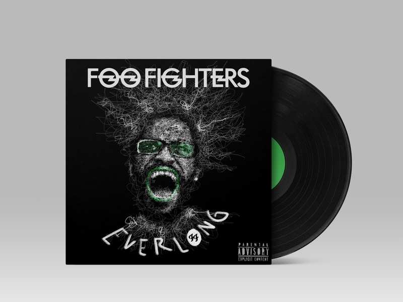 Everlong - Foo Fighter song coverart coveralbum scribble scribble art portrait art illustration digital painting