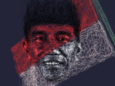 Indonesia Merdeka scribble art digital painting 75tahun indonesia maju scribble nkri hutri merdeka indonesia