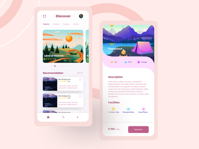 Travel App daily ui illustration ui mobile design design travel agency travel travel app