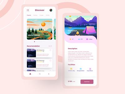 Travel App daily ui illustration ui mobile design design travel agency travel travel app