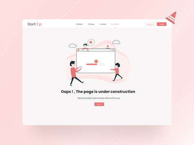 Error 404 page | Landing page daily ui illustrations flat illustration landing page landing 404 error page broken page 404 page error message error 404 error