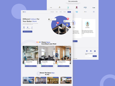 Landing page for spacework company design web design landing page ui company working space spacework