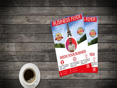 Flyer Design flat grow flyer corporate flyer business flyer flyer design flyer