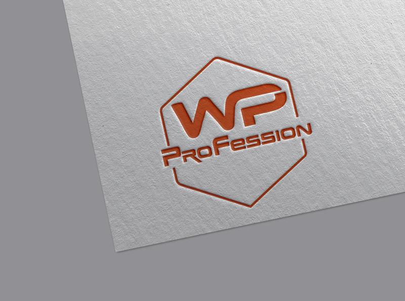 WP Profession Logo vector minimalist design brand custom branding signature flat brand identity logo