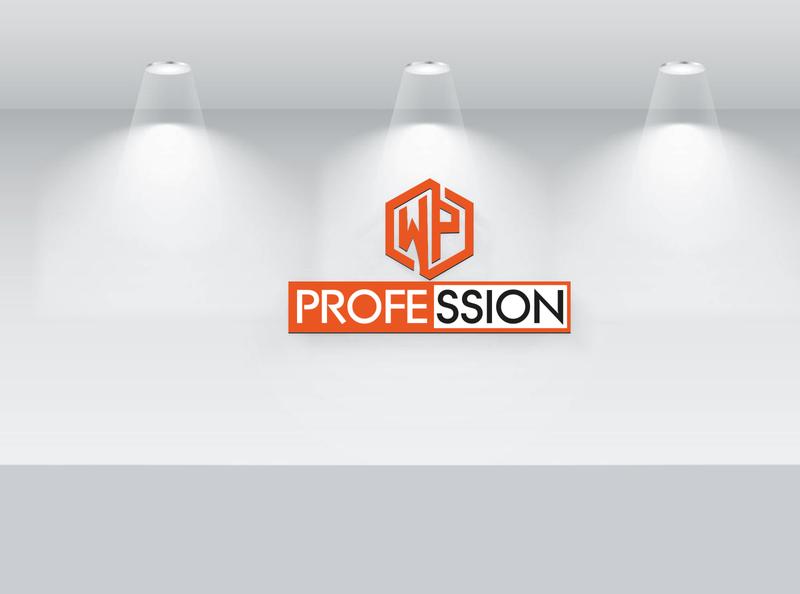 WP profession Logo Design brand minimalist design custom branding signature flat logo design