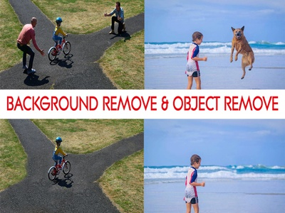 Background Remove & Object remove From Photo background background removal minimalist flat background design