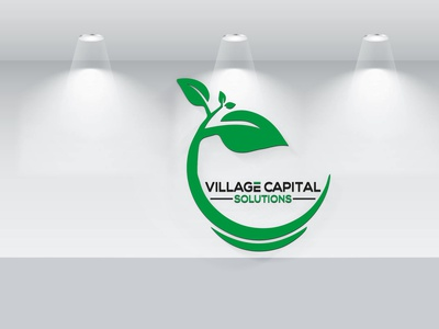 Village Capital Solutions brand identity custom signature branding letter logo design