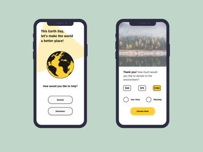 Earth Day 2021 dribbbleweeklywarmup earthday femaledesigner adobexd uidesign uidesigner