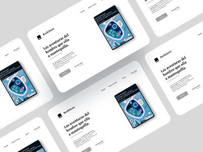Landing Page book cover slab serif classic font classic booking designer dailyui webdesign design ui ui design