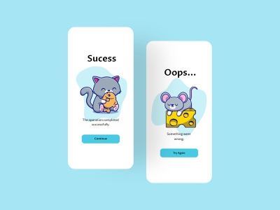 Flash Message cute animal catsilustraton ilustration cute art cute cats apps app design application designer dailyui design ui ui design