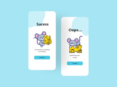 Flash Message v2 cuteilustration ilustration cuterat rat designer apps app design design ui ui design