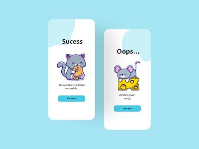 Flash Message v3 rat cat kawaii kawaii art ilustration design cute ilustrative art ilustracion ilustration figma designer design app design apps ui design ui