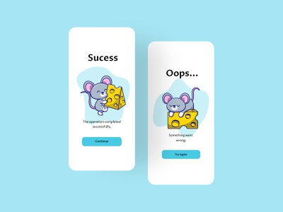 Flash Message v4 cute animal animal rat kawaii cute figmadesign apps ilustration figma application app design ui ui design design