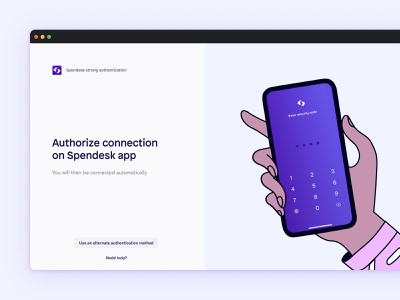 Spendesk Strong Authentication mobile authentication branding