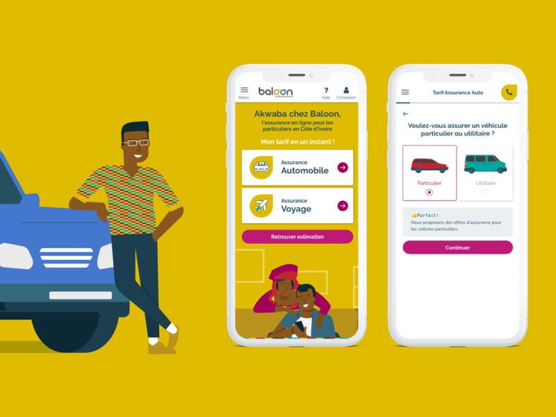 Baloon Art direction mobile app design mobile ui african illustration responsive design mobile art direction