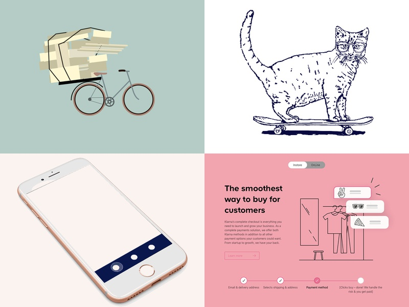 here my top 4 from 2018 infographic logo vector drawing branding app design ui icon sketch illustration flat design