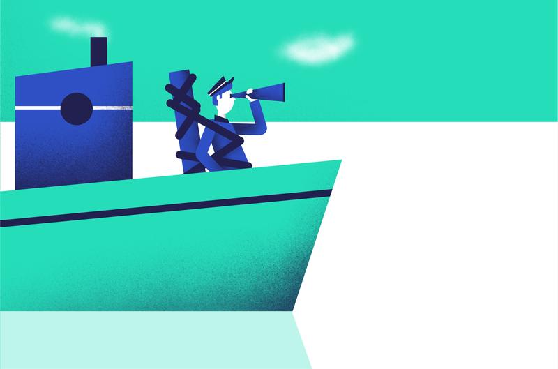 concept - Ulysse sketch texture boat procreate procreate app vector illustration