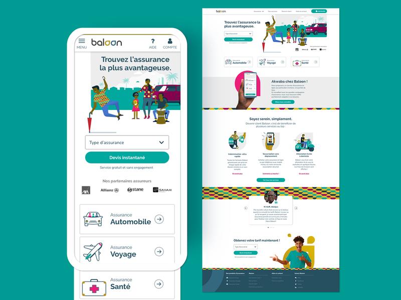 responsive website Baloon webdesign website responsive