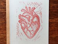Heart Linocut Print