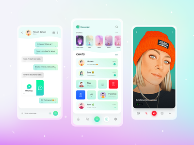 WhatsApp Redesign (Conversation and Video Cal.) adobe xd xd whatsapp redesign redesign chats conversation call video call whatsapp design chat app ui app ux ui
