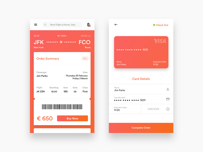 Daily UI - Booking App product design ui design ux design user interface user experience daily ui app design website booking travel