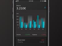 Daily UI #016 • Finance Dark UI