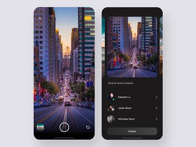 Design Concept: camera & photo share design ux ui product design camera photos chat app user experience app design user interface ux design ui design