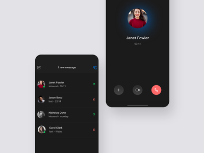 Design Concept: Chat & Call product design call user experience app design user interface ux design ui design