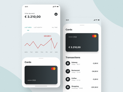 Design Concept: Banking app 02 app bank banking product design ui ux daily ui user experience app design user interface ux design ui design