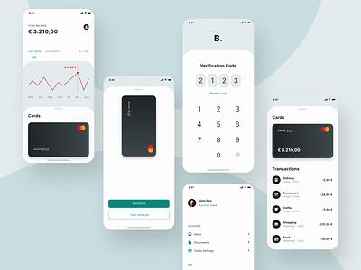 Design Concept: Banking app (Free) design system ui kits adobe xd banking app banking product design daily ui user experience app design user interface ux design ui design
