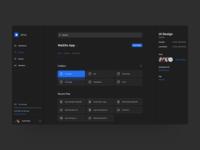 Design Concept File Manager Dark UI