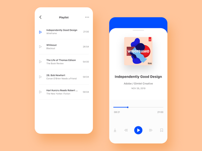 1. Podcast - Playlist adobe xd podcast design concept daily ui product design app design ux design ui design