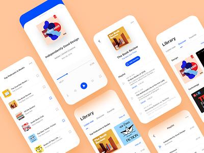 3. Podcast App (Freebies Adobe XD) freebies adobe xd design concept podcast product design app design ux design ui design