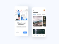Travel app ui design ux ux ui illustration