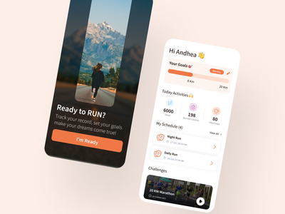 Running Mobile Application medical learn uiux ui app run cycle marathon jogging task fitness tracking sport activity health workout running run ui design mobile