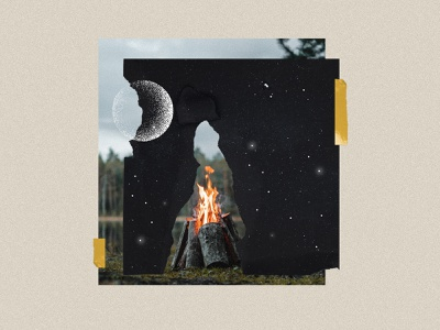 Artboard snippet 2 camp fire snippet collage