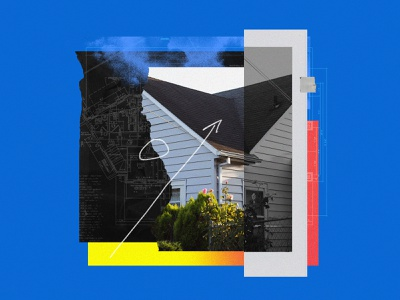 Artboard Snippet 3 blueprint collage roof home