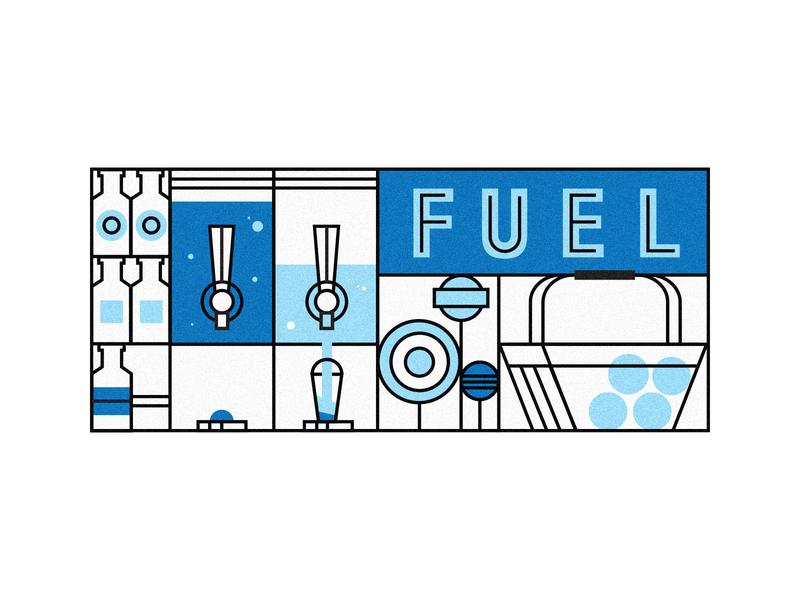 Fuel for the road slushie bottles food gas fuel