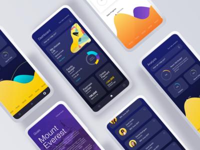 Financial Services app - visual concept