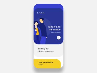 Banking ios app concept
