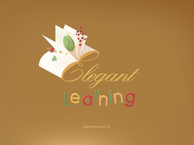 Elegant Learning Educational Platform Online ui illustration design ux typography branding logo graphic design 3d