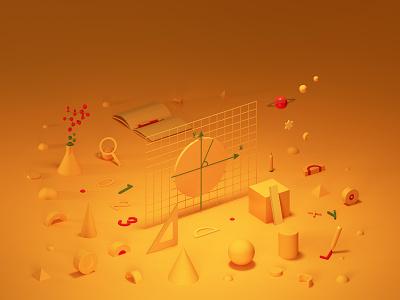 Elegant Learning ux ui illustration design branding graphic design 3d