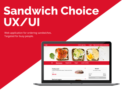 Sandwich Choice UX/UI design webdesign interface interaction ux ui